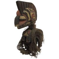African D'mba Shoulder Mask Aka Spirit Sculpture