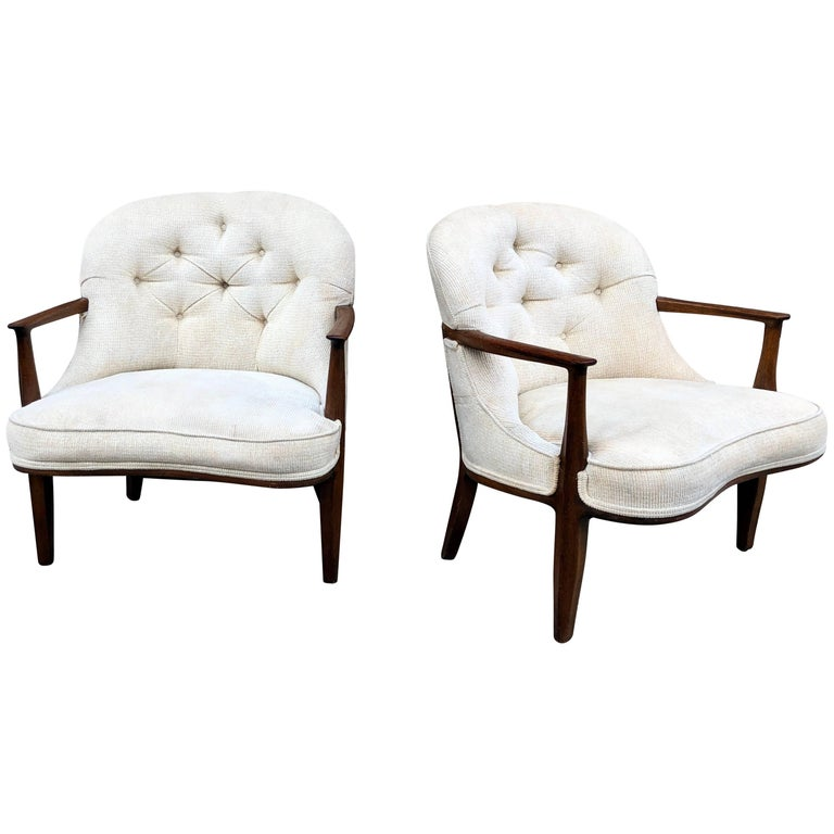 Pair of Dunbar 'Janus' Lounge Chairs For Sale