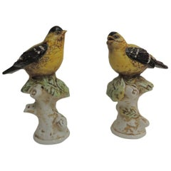 Pair of Italian Hand-Painted Bird Figurines