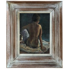 Signed Mid-Century Modern Nude by Virginia Emmons