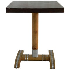 Art Deco Table by Rex Brevette Bakelite Sycamore French Cafe Bistro, circa 1930s