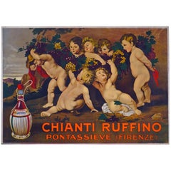 Italian Wine and Spirits Advertising Poster 'Chianti Ruffino', 1930s