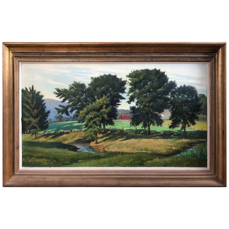Oil on Canvas of Pastoral Landscape