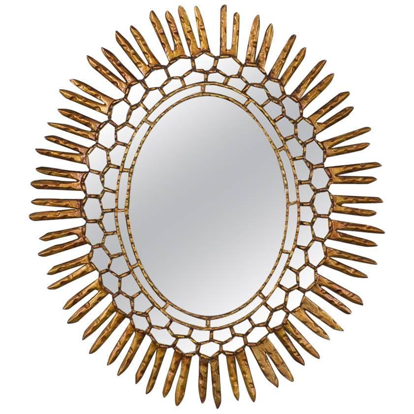 Spanish Carved Sunburst Mirror