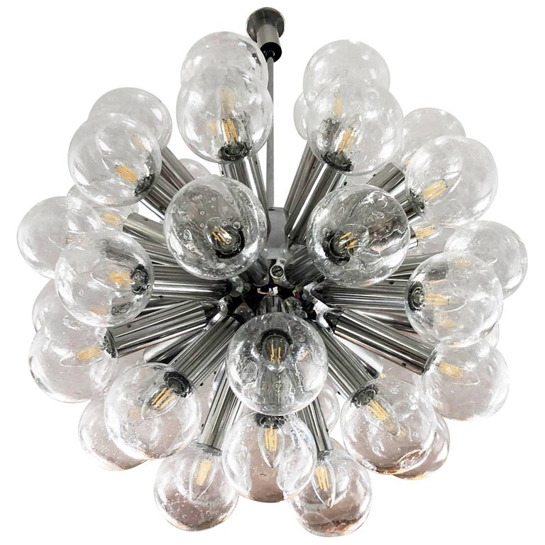 "Sputnik Chandeliers by Kalmar ""RS 43 Kugel"""