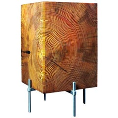 AKMD Southern Yellow Pine Table Translucent Lamp