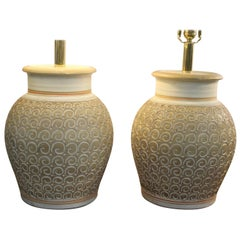 Pair of Ceramic Lamps by Casual Lamps of California