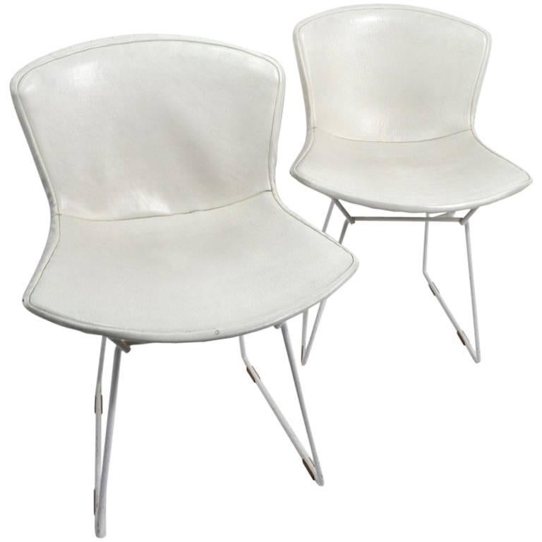 Pair of Bertoia for Knoll Dining Chairs For Sale