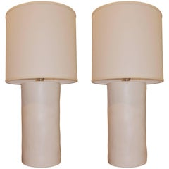 Tall Pair of Handcrafted Ceramic Modern Lamps