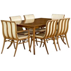 T.H. Robsjohn-Gibbings for Widdicomb Dining Table and Six Chairs, circa 1957