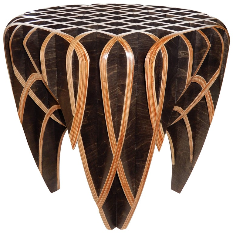 """Artisan Side Table from the """"Quarry Collection"""" by Studio Artist, Ryan Dart For Sale"""