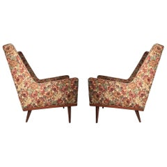 Pair of Early Milo Baughman Lounges for James Company