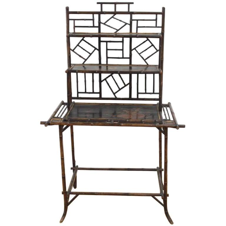 Superb 19th Century English Bamboo Ladies Desk