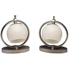 Bauhaus Pair of Desk Lamps by WMF