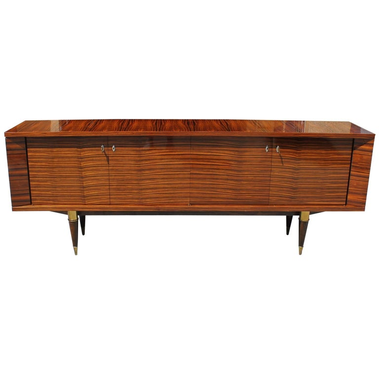 Beautiful French Art Deco Exotic Macassar Bony Sideboard or Buffet, circa 1940s