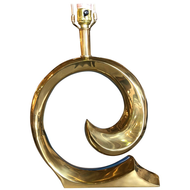 Pierre Cardin Wave Brass Lamp