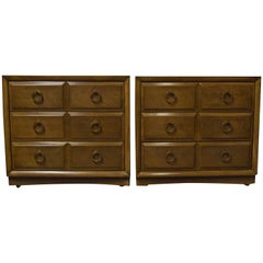 Pair of T.H. Robsjohn-Gibbings for Widdicomb Chest of Drawers