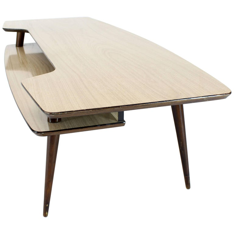 Italian Modern Step Coffee Table with Shelf For Sale