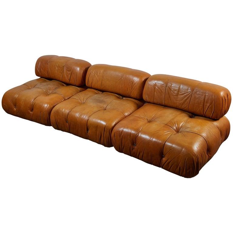 Leather Camaleonda Sofa by Mario Bellini for C&B Italia