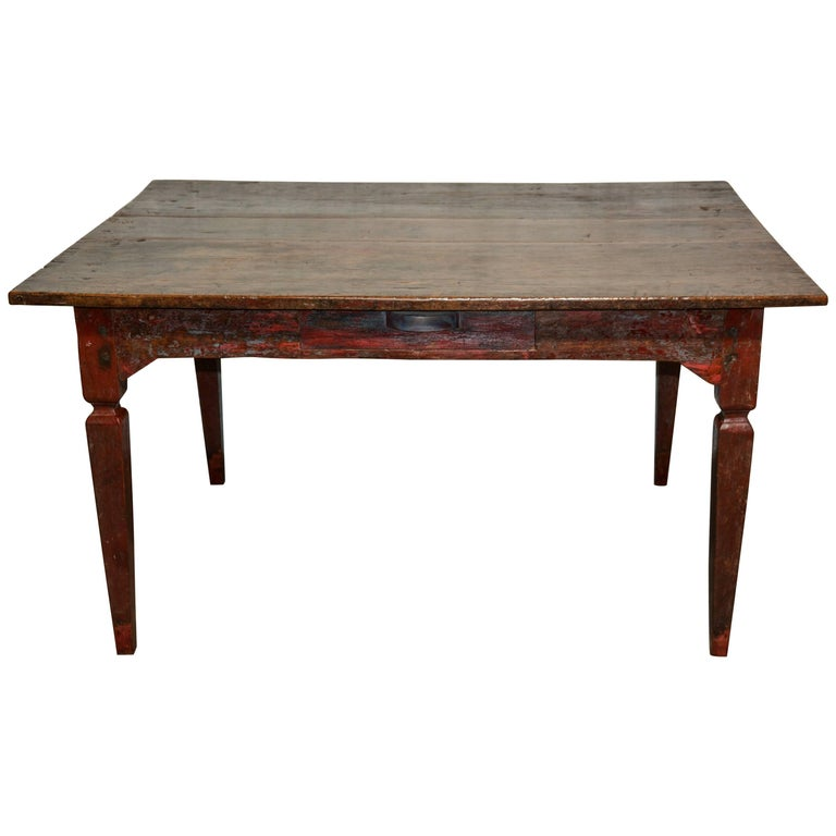 Vintage Teak Dining or Kitchen Table, Java, Early to Mid-20th Century