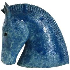 Bitossi Aldo Londi Horse head, Italy, circa 1965