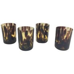 Empoli for Christian Dior Collection Tortoiseshell Glass Barware Set