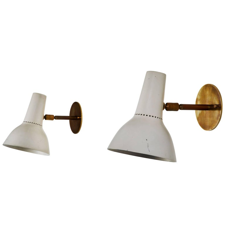 Pair of Sconces by Giuseppe Ostuni for O-Luce