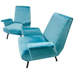 Pair of Midcentury Italian Armchairs, 1950s