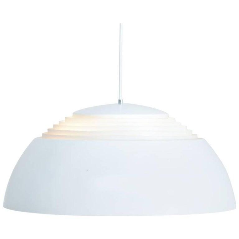 White AJ Royal Pendant Lamp by Arne Jacobsen for Louis Poulsen