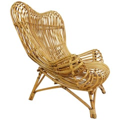 Iconic Franco Albini, Bonacina 1958 First Edition Armchair Mod. Gala