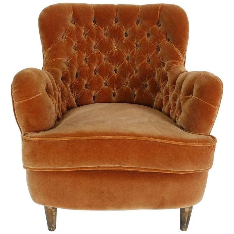 cozy elegant lobby lounge chair elias svedberg dk sweden 1940 at