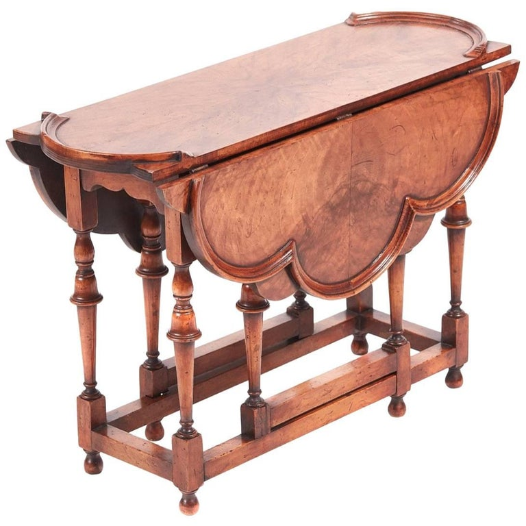 Outstanding Walnut Drop Leaf Coffee Table For