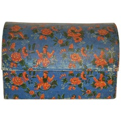 French 18th Century Hand-Painted Cardboard Box
