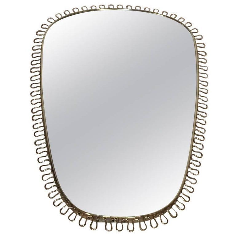 Brass Mirror Design by Josef Frank for Svenskt Tenn