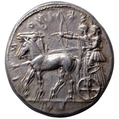 Ancient Greek Silver Tetradrachm Coin from Selinus, 450 BC