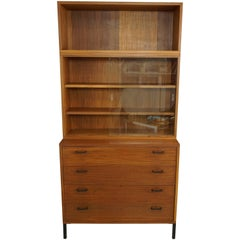 Midcentury Design Wooden Teak Cabinet with Chest of Drawers from the 1950s