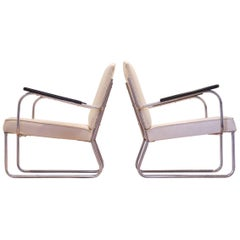 Bauhaus Period, Jan Schroefer/1935 Tubular Chromium Easy Chairs for Cirkel