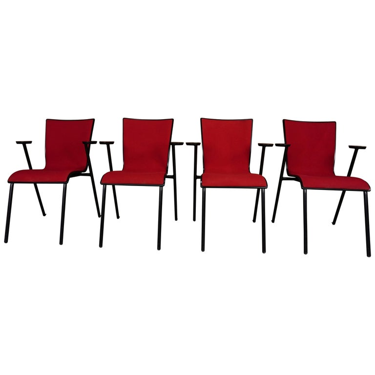 Set of Four Dutch Design Armchairs Occhio TG Model for Drisag