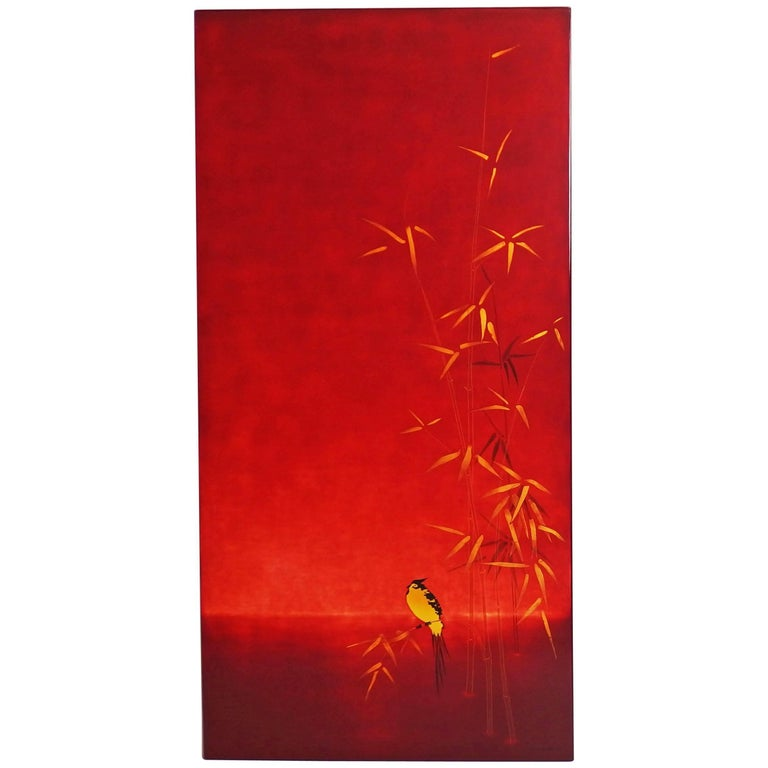 Lacquered Panel by Bernard Dunand For Sale