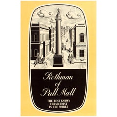 Original Vintage Rothmans Poster Advertising Rothman of Pall Mall Tobacconist