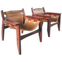 A pair of Sergio Rodrigues Kilin Lounge Chairs for Oca, Brazil, 1973