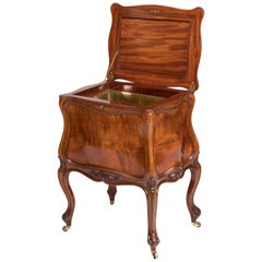 19th Century English Mahogany Bombé Shape Wine Cooler by Holland & Sons
