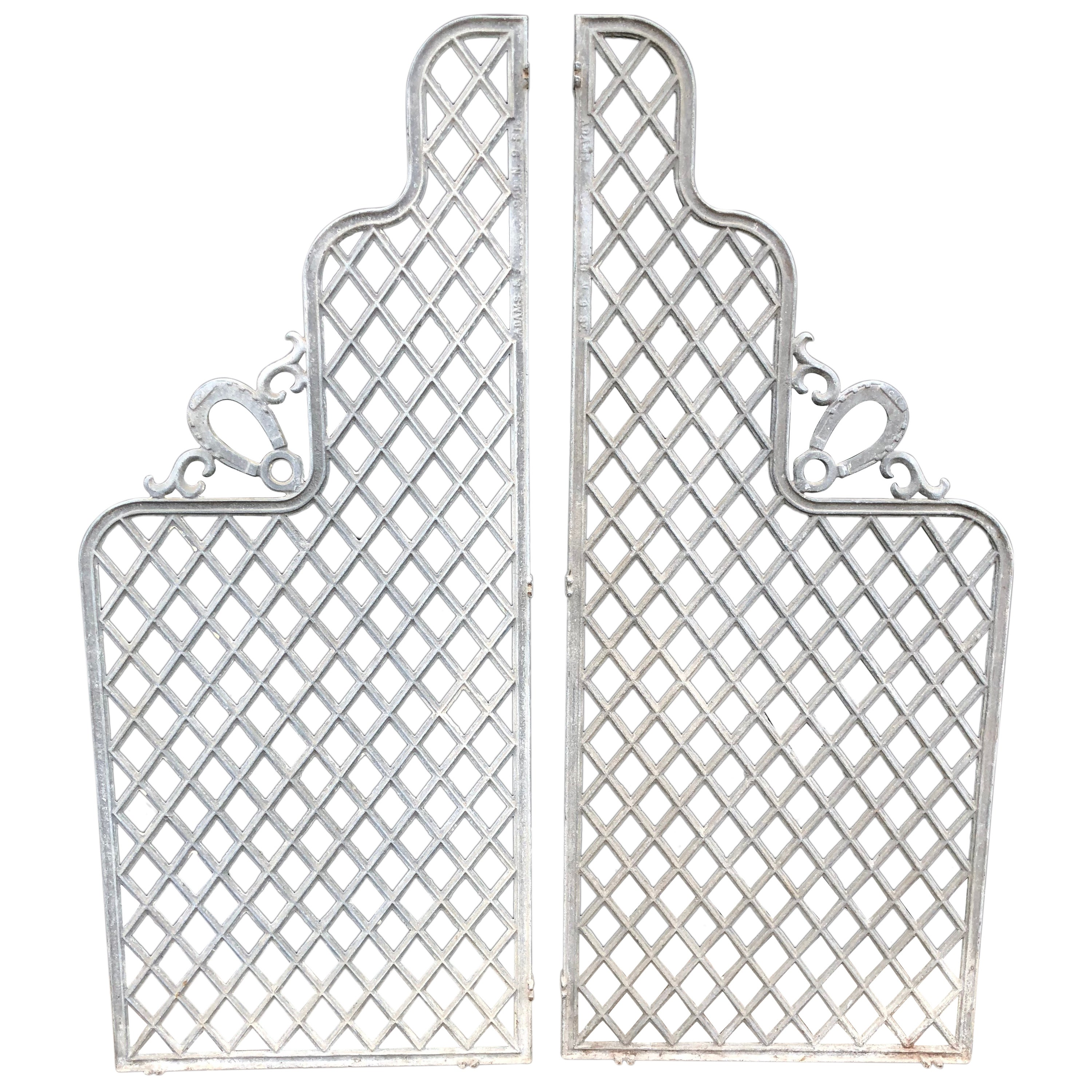 Wonderful Vintage Set of Iron Architectural Garden Gates