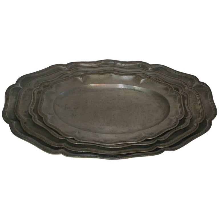 18th Century French Pewter Serving Plates