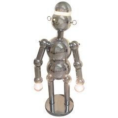 Torino Large Robot Chrome Lamp, Sculpture