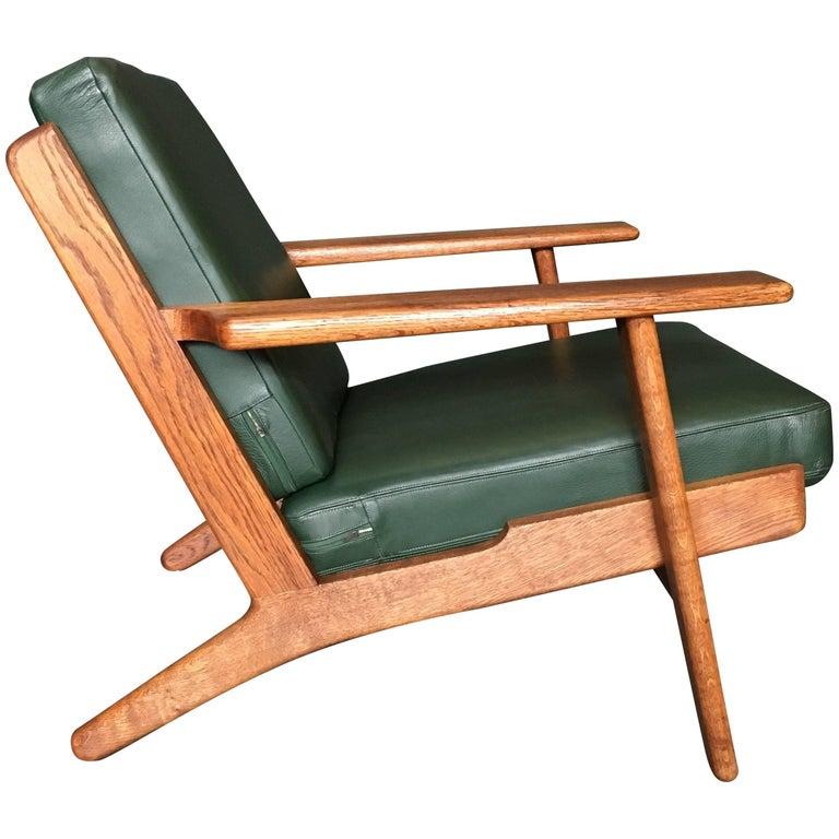 Hans Wegner GE290 Lounge Chair, Original 1950s Refurbished