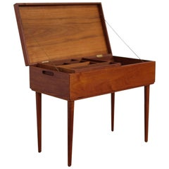 Elegant Sewing Table in Teak, Danish Design