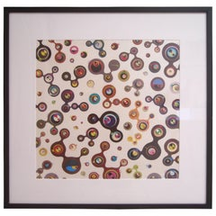 Takashi Murakami, Jellyfish Eyes-White, Lithograph, Signed