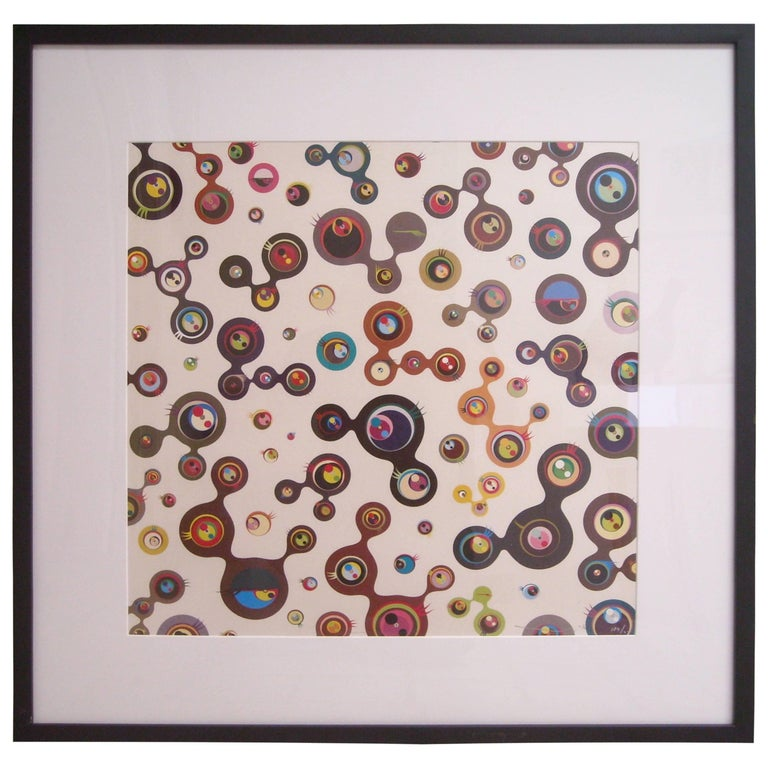 Takashi Murakami, Jellyfish Eyes-White, Lithograph, Signed For Sale