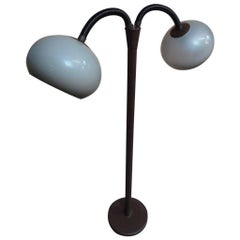 1970s Retro Vintage Freestanding Dijkstra Mushroom Shaped Two Lights Floor Lamp